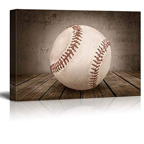 DOLUDO Wohnkultur Wandkunst Baseball Rustikale Sport Poster Leinwand Wanddekor Baseball Malerei Kunst Bild Home Decoration Wohnzimmer Decor 50 x 70 cm (kein Rahmen)