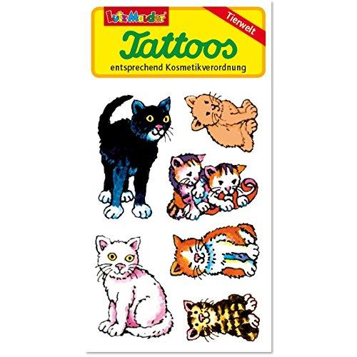 Lutz Mauder Lutz mauder44651Katzen Tattoo (One Size)