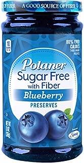 Polaner Sugar Free with Fiber, Blueberry Preserves, 13 Ounce