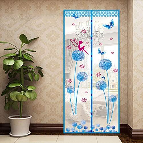 Klamboe voor deuren, Gordijn voor hordeur, handsfree, houdt vliegen, muggen buiten en laat frisse lucht binnen,F,100x210cm