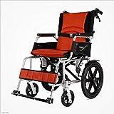 MODYL Sillas De Ruedas Plegables Portátiles para Adultos Mayores Discapacitados Aleación De Aluminio Ultraligero Portátil Caminar Ayudas,Red