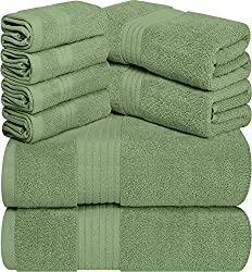 Premium Highly Absorbent Towel Set 2 Bath Towels, 2 Hand Towels, and 4 Washcloths