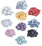 Piedras de agua de gran mezcla, 1 kg, piedras preciosas, 10 variedades diferentes