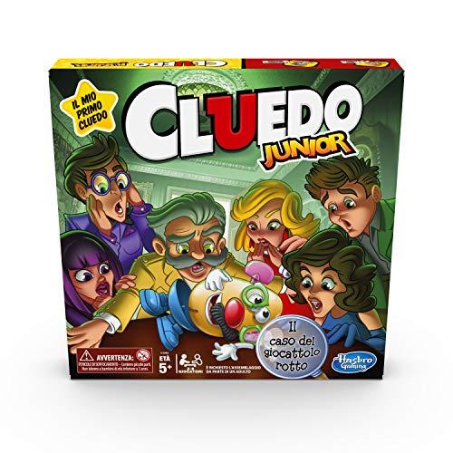 Cluedo Junior - El Caso del Juguete Roto (Juego en Caja, Hasbro Gaming, versión en Italiano)