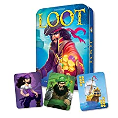 Exciting Adventure of Strategy and Skullduggery Storm your Opponents' Merchant Ships and Seize Valuable Treasure Player with the Most Loot Rules the High Seas Fun for Ages 10 and Up WARNING: CHOKING HAZARD—Small parts