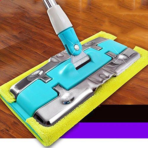 ZHGJSQ Flat Mop Home Massief Houten Tegel Houten Vloer Speciale Mop Mop RVS Klem Handdoek Houders Mop