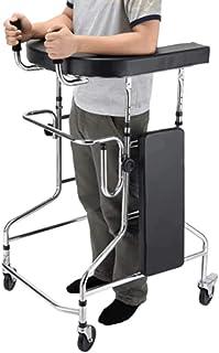 Rehabilitation Elderly Walker Stroke Hemiplegia Adult Walker Lower Limb Rehabilitation Training Equipment Stand (Color : Black, Size : 73 * 63 * 100cm)
