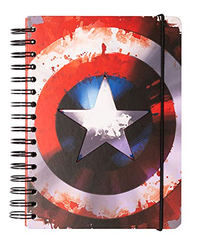 Erik Bullet Journal Notizbuch MARVEL CAPTAIN AMERICA - Hard Cover Notizblock A5 mit Spiralbindung