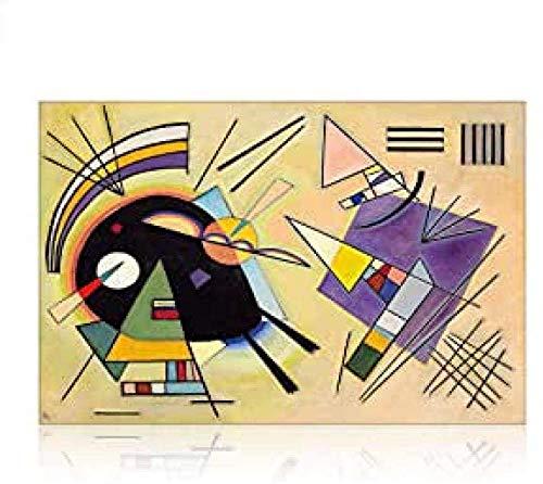 Puzzles Abstract Puzzle Wassily Kandinsky Wooden Puzzle 1000 Piezas Rompecabezas De Descompresión 50X75Cm,Jigsaw Puzzle