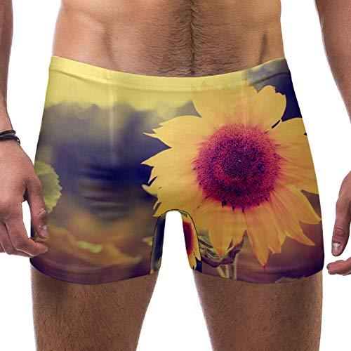 Lorvies Schöne Sonnenblumen-Boxershorts, kurz, quadratische Beine, Badeanzug, schnell trocknend, Größe S Gr. Verschiedene Größen, multi