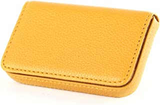 New Pocket PU Leather Business ID Credit Card Holder Case Wallet LA Yellow