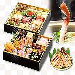 【くら寿司特製】 おせち二段重とかに1kgセット【12月30日お届け】四大添加物無添加