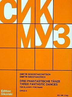 3 fantastische TAENZE OP 5 - gearrangeerd voor piano [Noten / Sheetmusic] Componis: SCHOSTAKOWITSCH DMITRI