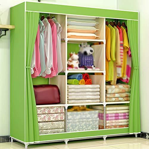 wardrobe Einfacher Stoffkleiderschrank, Selbstgebauter Schlafzimmerschrank, Tragbarer Schrank Mit Großer Kapazität