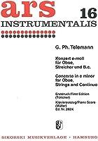 テレマン : オーボエ協奏曲 ホ短調 (オーボエ、ピアノ) シコルスキ出版