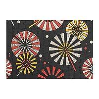 98ピース ジグソーパズル 傘 和風 木製パズル 脳チャレンジ Diyの家の装飾 特別プレゼント 楽しい遊び ピクチュアパズル(20x29cm)