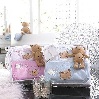 Izziwotnot - Coffret cadeau 3 pièces Precious, de luxe - rose - 6 à 9 mois