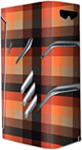 Skin Decal Vinyl Wrap for Smok T-Priv Vape stickers skins cover/ orange brown plaid