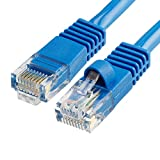 Cmple Cat5e Network Ethernet Cable - Computer LAN Cable 1Gbps - 350 MHz, Gold Plated RJ45 Connectors - 100 Feet Blue