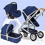 JIAX Kinderwagen Und Autositz Combo 360 Rotation, Kleinkind Für Neugeborene Und Kleinkinder-3 In 1...
