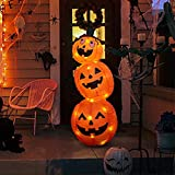 Vanthylit Halloween Inflatable Pumpkin Tumbler Outdoor Decoration with 4FT 52LT Build-in Orange LED Lights,Blow Up Stacked Pumpkin for Halloween Decorations Indoor and Outdoor Yard Garden Lawn Party