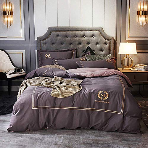 Bed Accessories for Bedroom Duvet Cover Set Double Bedding Set King Size Orange 100% Cotton Double Duvet Cover Set Bedding Set Double Bed 4 Pcs Quilt Cover Sets Flat Sheet Twin Double Size Soft War