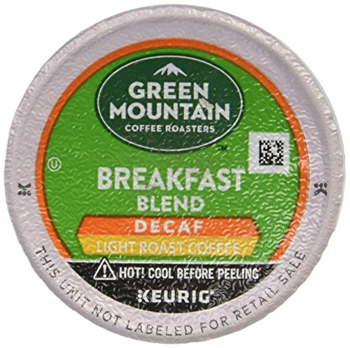 Green Mountain Coffee Decaf Light Roast Breakfast Blend, K-Cup Portion Pack for Keurig K-Cup Brewers, 24-Count