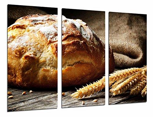 Cuadros Camara Poster Fotográfico Hogaza de pan, trigo, panaderia, Pasteleria Tamaño total: 97 x 62 cm XXL, Multicolor