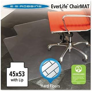ES Robbins - Chair Mat for Hard Floors, Lip, 45w x 53l, Clear