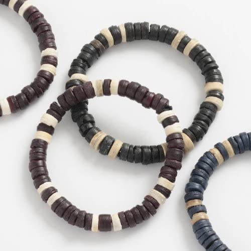 Set of 3 Wooden Ranking TOP5 Beaded Bracelets Libbyshouse by Style Surfer Outlet sale feature