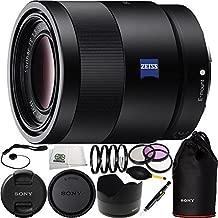 Sony 55mm F1.8 Sonnar T FE ZA SEL55F18Z Full Frame Prime Lens - International Version (No Warranty) 15PC Bundle Includes + 3PC Filter Kit (UV-CPL-FLD) + 4PC Macro Filter Set (+1,+2,+4,+10) + More