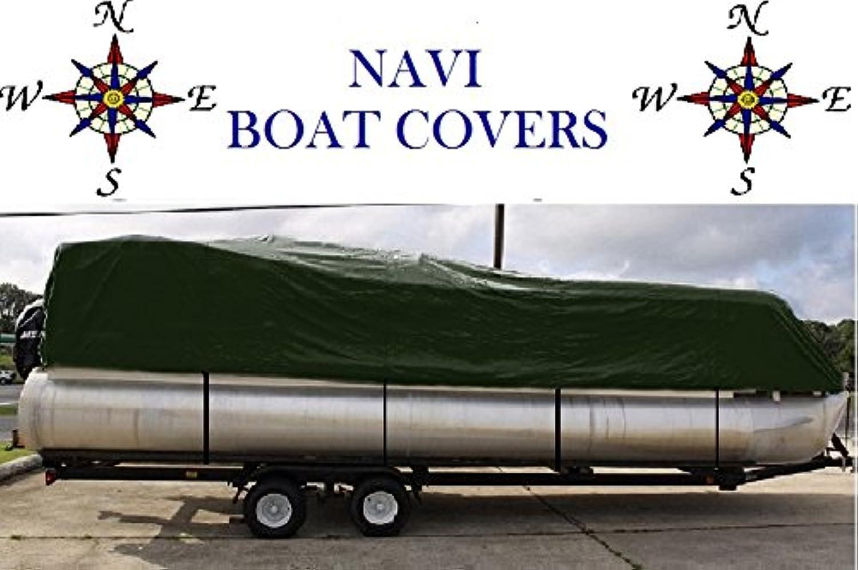 NAVI 16'18' GREEN MARINE CANVAS PONTOON BOAT COVER