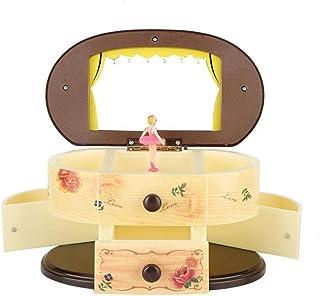 Boîte à Musique de Danse Ballerina Music Box Boîte à Bijoux boîte de Rangement avec Miroir for Les Filles Cadeau cosmétiqu...