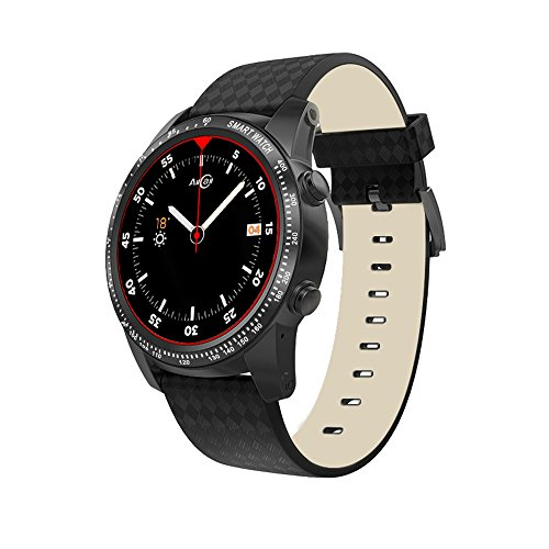 "AllCall Bluetooth Smartwatch Phone Men Smart Watch Big Momery Compatible with iPhone Android for Men,Phone Call Smart Watches with 1.39"" AMOLED Display/GPS Built-in/Wi-Fi Heart Rate Monitor"