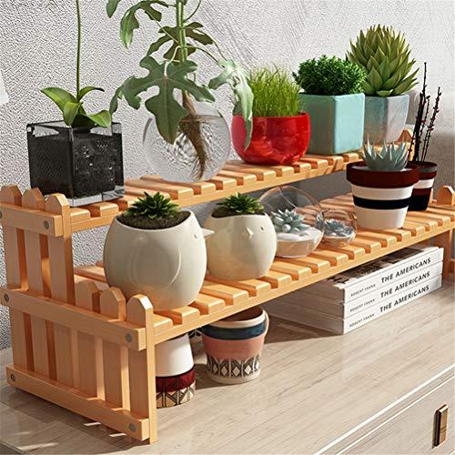 Plant Stand Storage Rack Plank Desktop bloem stand Office vensterbank vlees mini multi-layer opbergrek Interieur decoratie multifunctionele bloem stand materiaal is gezond en duurzaam De Perfect