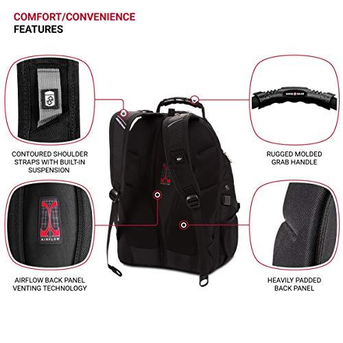 SWISSGEAR 1900 ScanSmart TSA Laptop Backpack- Black