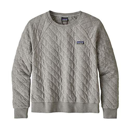 Patagonia Damen W's Organic Cotton Quilt Crew Sweatshirt, Grau (Drifter Grey), L