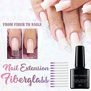 Heyean Nail Extension Fiberglass Set Strong Adhesion Nail Extension Gel Kit for Women Beauty Nail Kit, Fiber Nails Extension Nail Salon Manicure Tool Extension for Quick Nail Extension Starter Kit