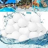 Bola Filtro Piscina,Bolas Filtrantes,700g Filter Balls Alternative para 25 KG Filtro de Arena, para Piscina, Filtro de Arena para Piscina, Medios, Filtrado de Agua
