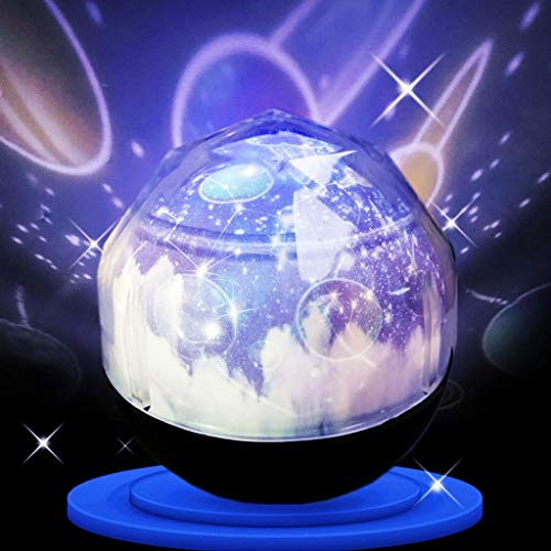 Star projector Lampe de projecteur de Nuit rotative Diamond Cosmos avec 3 Modes et Motifs modifiables Veilleuses-projecteurs 0701
