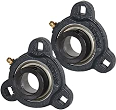 2x 1.25 in 3-Bolt Flange Cast Iron SATRD207-20 Mounted Bearing SA207-20G+TRD207