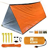 Bearhard Emergency-Tent-Survival-Blanket-Shelter丨Lightweight 2-Person Rescue Tube Tent 丨Space Blanket Emergency Shelter for Camping, Hiking丨Orange