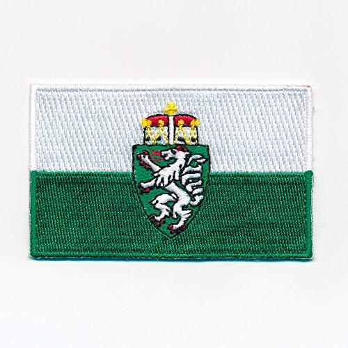 hegibaer 60 x 35 mm Steiermark Österreich Flagge Graz Wien Aufnäher Aufbügler 1127 B