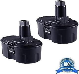 2Pack 18V DC9096 2000mAh Replacement Battery for Dewalt 18-Volt XRP DW9095 DW9096 DW9098 DE9039 DE9095 DE9096 DE9098 DC9099 DC9098 Cordless Power Tools Battery, (NiCd)