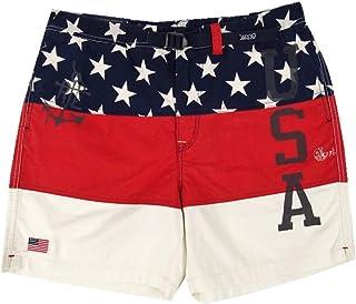 """Polo Ralph Lauren Men's Classic-Fit 6"""" Cotton Short, USA Color Block"""
