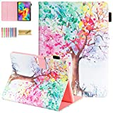 Galaxy Tab S 10.5 Case, SM-T800 Case, Dteck Slim Colorful Flip Stand Premium PU Leather Wallet Case with Auto Sleep/Wake Smart Cover for Samsung Galaxy Tab S 10.5 inch SM-T800/T805, Colorful Tree