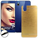 mtb more energy® Hard-Hülle Brushed Metal für Huawei Shot X/Honor 7i (5.2'') - Gold - Schutz-Hülle Cover Tasche