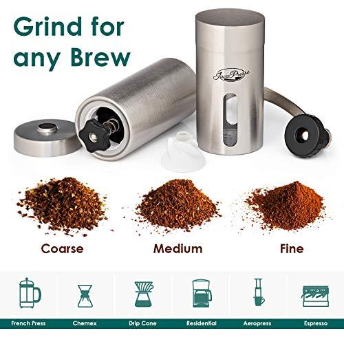 Javapresse manual coffee grinder disassembled