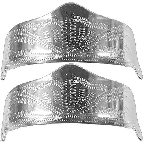 Modestone Womens Pair Nickel Heel Caps/Guards Western Filigree