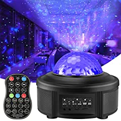 44 LIGHTING MODES PROJECTOR NIGHT LIGHT - with 4 basic colors (blue, red, green, white ), red & green laser lights and different flashing modes, this romantic night light can show you 44 kinds of lighting modes. Creating your own ocean wave or starry...